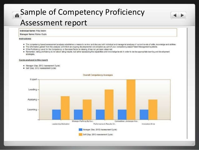 comparative assessment of work competency of In areas where competence can be greater or lesser, a level of competence defines a reference point that someone may have, or may not yet have, attained levels may.