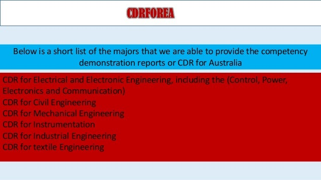 Competency demonstration reports samples