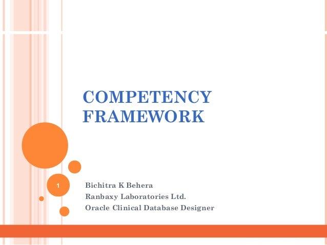 Dept. NameDept. Name COMPETENCY FRAMEWORK Bichitra K Behera Ranbaxy Laboratories Ltd. Oracle Clinical Database Designer 1