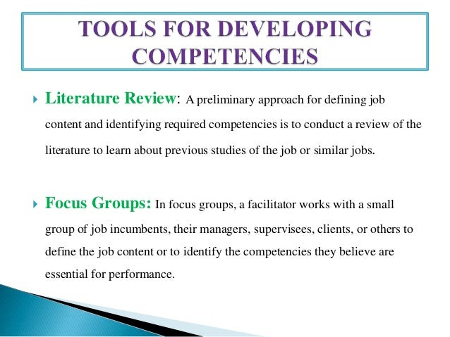 competency mapping literature review