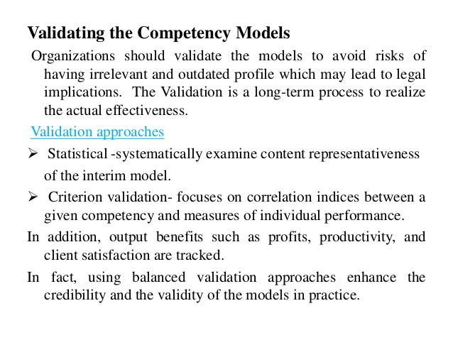 Validating the competency models dating in brasil