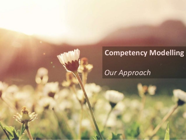 Competency Modelling Our Approach
