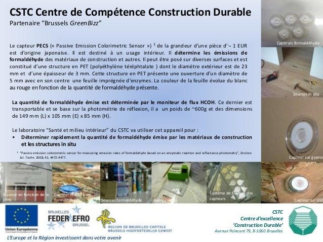 """CSTC Centre de Compétence Construction Durable   Partenaire """"Brussels GreenBizz""""                                          ..."""