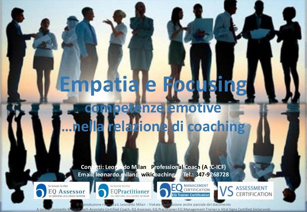 Competenze emotive di un coach. L'empatia nel processo di focusing
