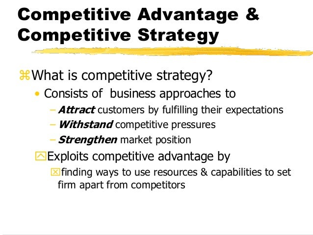 Strategies on different levels