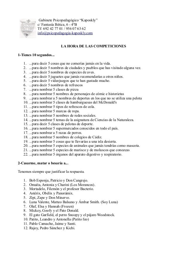 "Gabinete Psicopedagógico ""Kaposkly"" c/ Fantasía Bética, 6 - 4ºB Tf: 692 42 77 01 / 956 07 63 62 info@psicopedagogia-kaposk..."