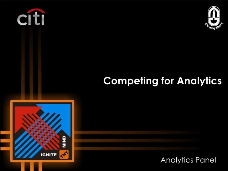 Competing for Analytics<br />Analytics Panel<br />