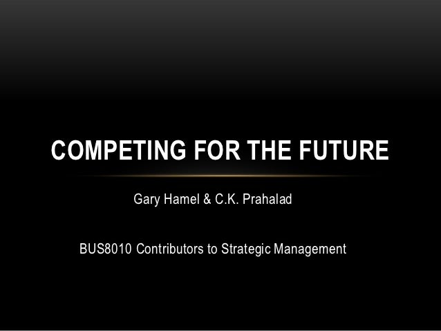 competing for the future Creating the future, as electronic data systems has done, for example, requires industry foresight since change is inevitable, managers must decide whether it will happen in a crisis atmosphere.