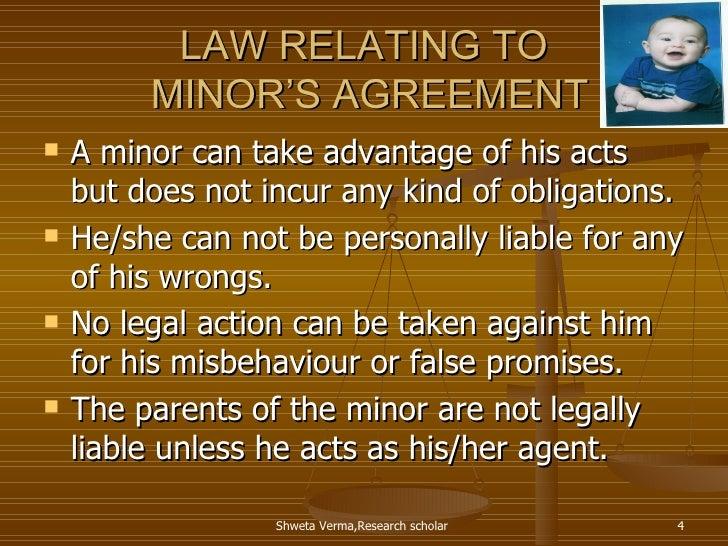 law regarding minors agreement