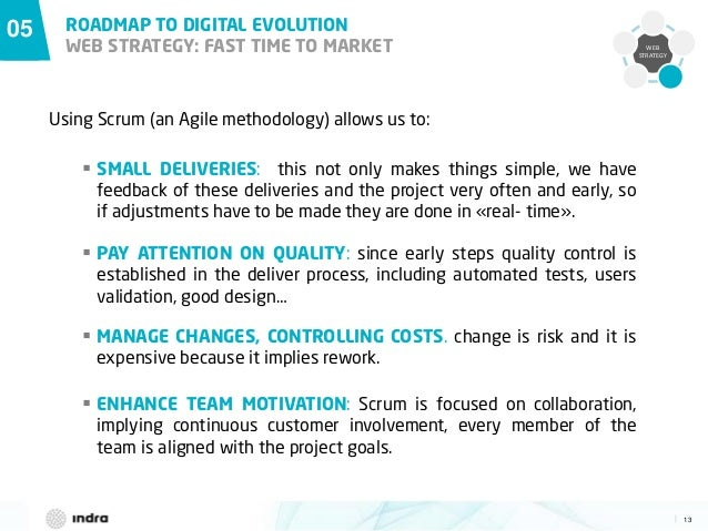 13  WEB STRATEGY 05 ROADMAP TO DIGITAL EVOLUTION WEB STRATEGY: FAST TIME TO MARKET  MANAGE CHANGES, CONTROLLING COSTS. ch...