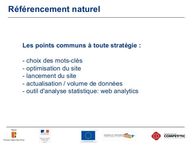 Référencement naturel Suivi et évolution : Processus itératif - analyse des données statistiques - ajustement de la straté...