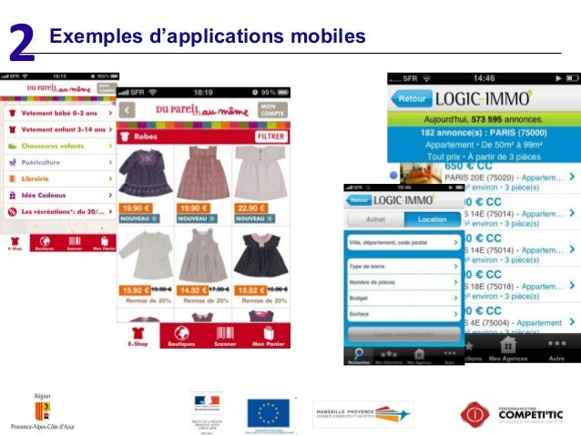2 Exemples d'applications mobiles