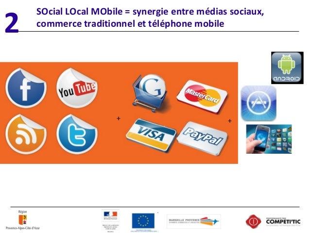 SOcial LOcal MObile = synergie entre médias sociaux, commerce traditionnel et téléphone mobile + 2 +