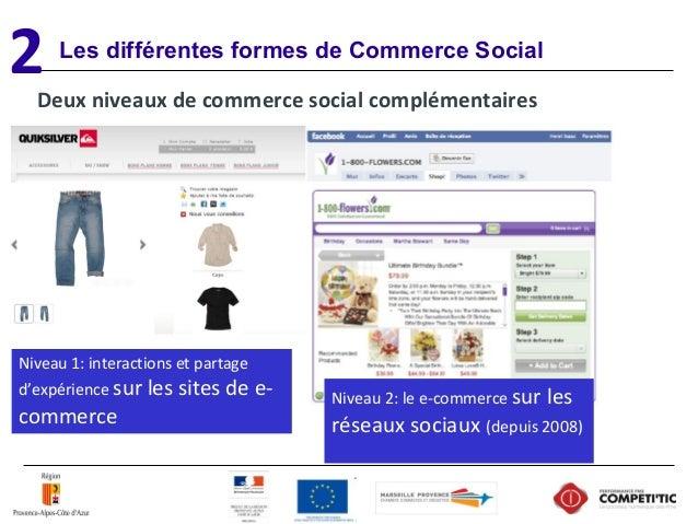 Les différentes formes de Commerce Social Deux niveaux de commerce social complémentaires Niveau1:interactionsetpartag...