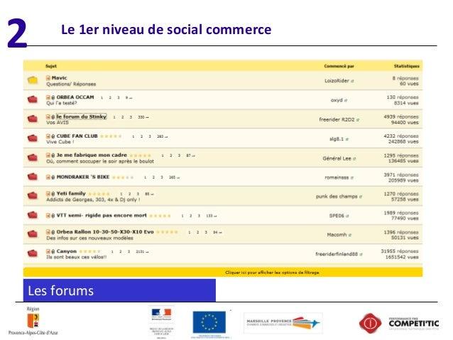 Le 1er niveau de social commerce Lesforums 2