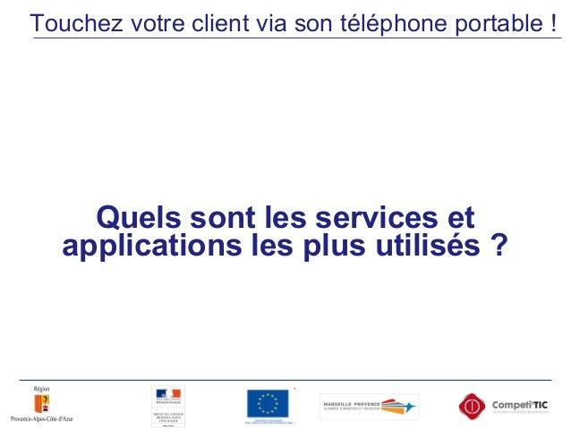 Quels sont les services et applications les plus utilisés ? Touchez votre client via son téléphone portable !