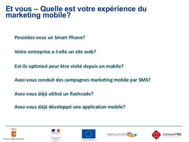 Et vous – Quelle est votre expérience du marketing mobile? Possédez-vous un Smart Phone? Est-ils optimisé pour être visité...