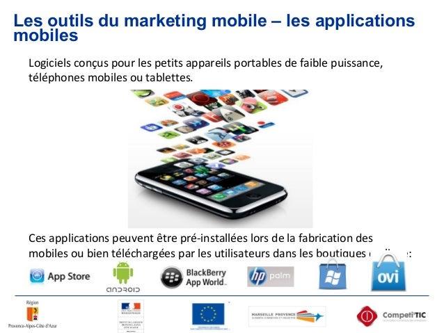 Les outils du marketing mobile – les applications mobiles Logiciels conçus pour les petits appareils portables de faible p...