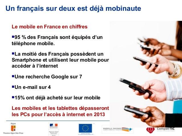 Un français sur deux est déjà mobinaute Le mobile en France en chiffres 95 % des Français sont équipés d'un téléphone mob...