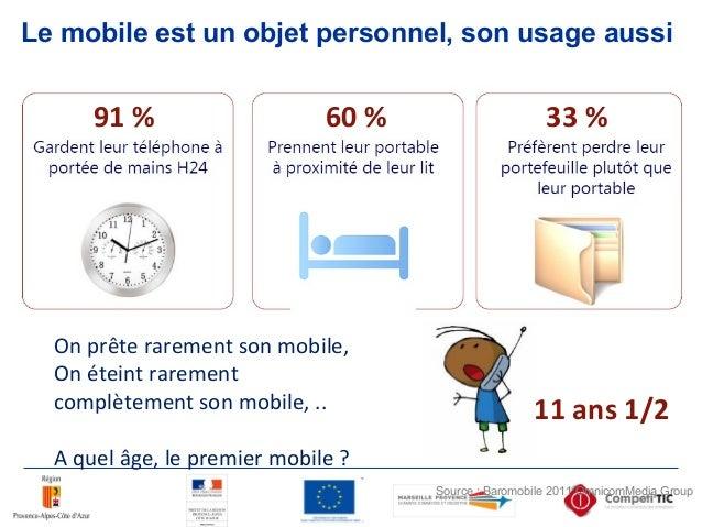 Le mobile est un objet personnel, son usage aussi On prête rarement son mobile, On éteint rarement complètement son mobile...