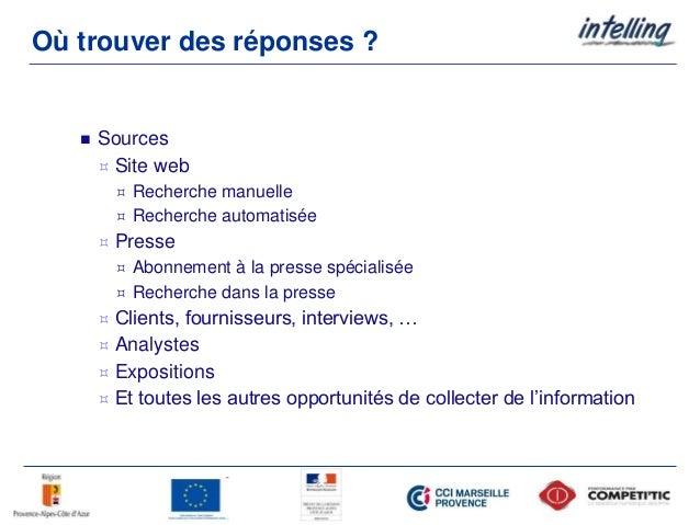Où trouver des réponses ?  Sources  Site web  Recherche manuelle  Recherche automatisée  Presse  Abonnement à la pre...