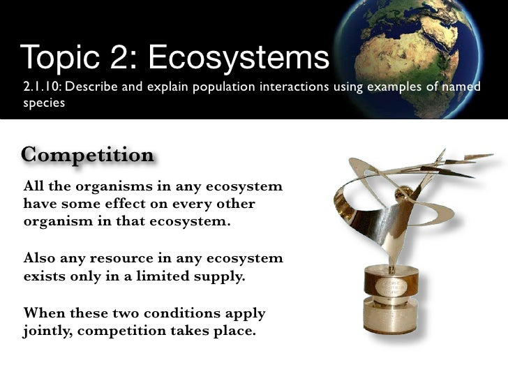Ecological competition.