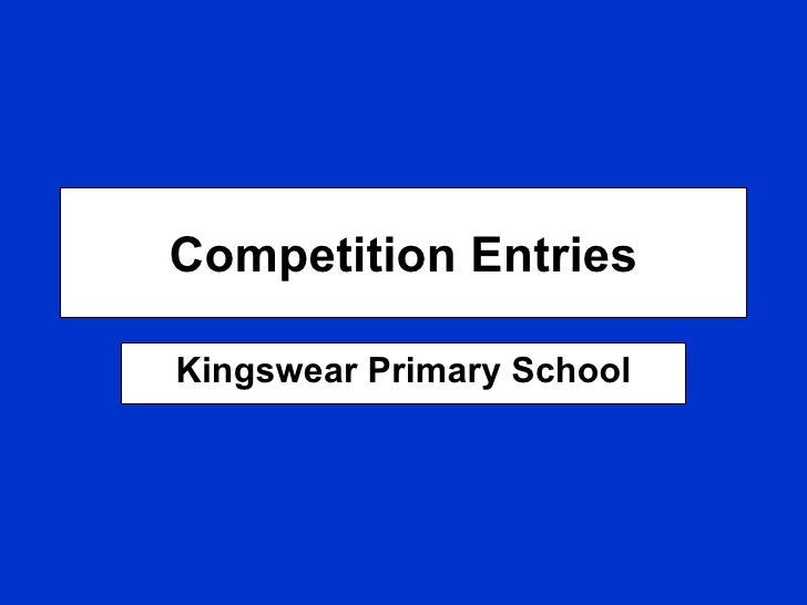Competition Entries Kingswear Primary School
