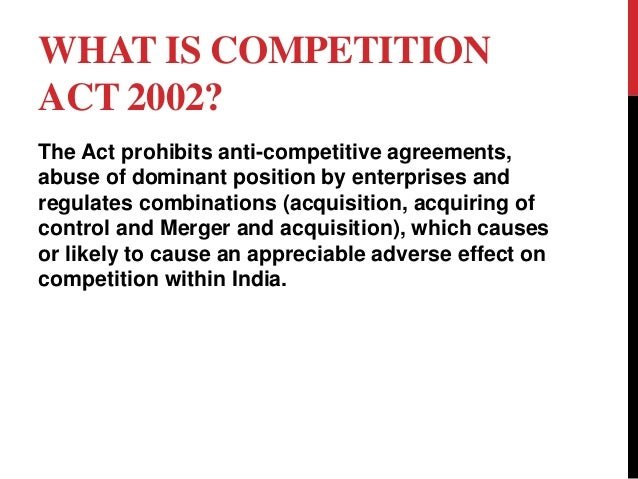 the mrtp act preamble and sections Competion act 2002 - authorstream  competition act objective of the act the preamble to the act says that the  competition act mrtp act 1969 based on the pre.