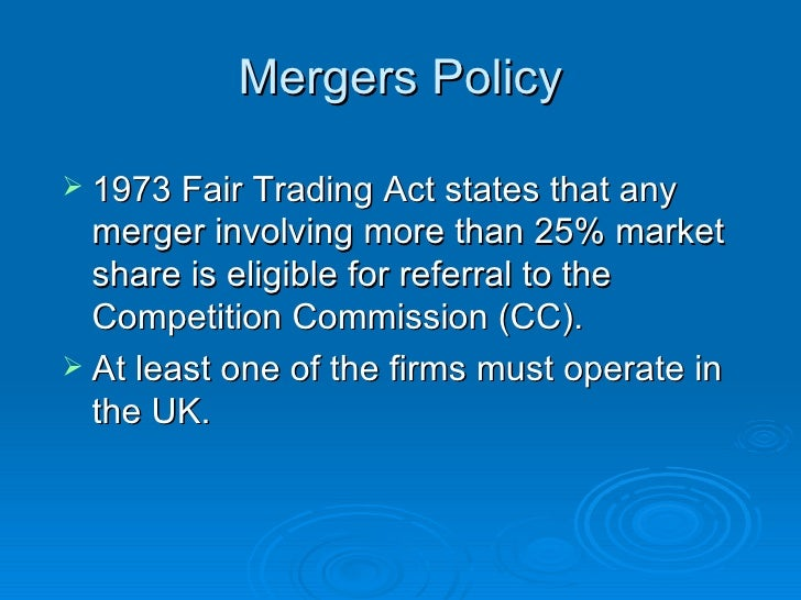 The Fair Trading Act 1973, consumer protection and competition law