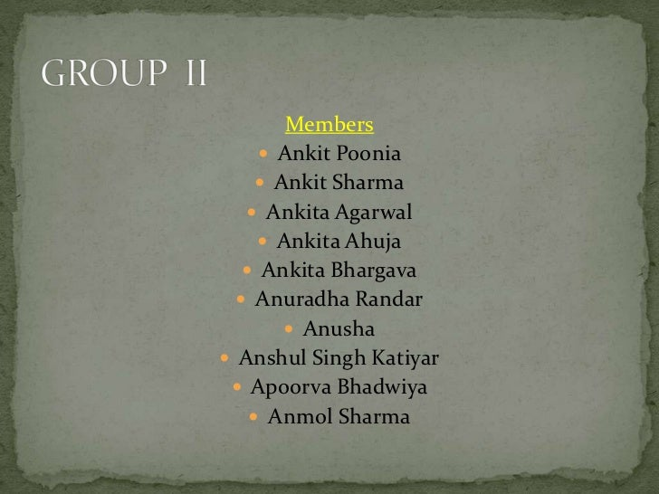 Members      Ankit Poonia      Ankit Sharma    Ankita Agarwal      Ankita Ahuja    Ankita Bhargava   Anuradha Randar...