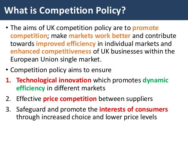Brexit and competition policy in Europe