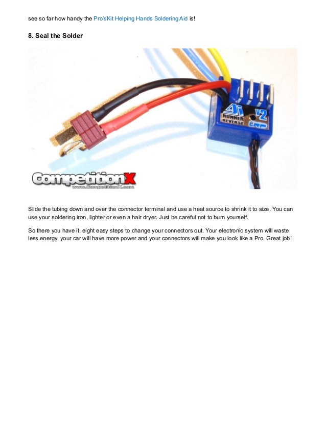 CompetitionX How To: Changing Connectors on your Battery and ESC