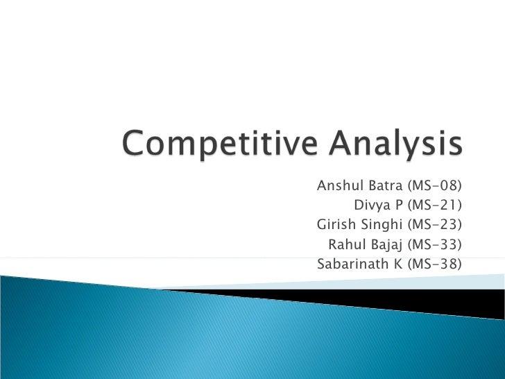 Anshul Batra (MS-08) Divya P (MS-21) Girish Singhi (MS-23) Rahul Bajaj (MS-33) Sabarinath K (MS-38)