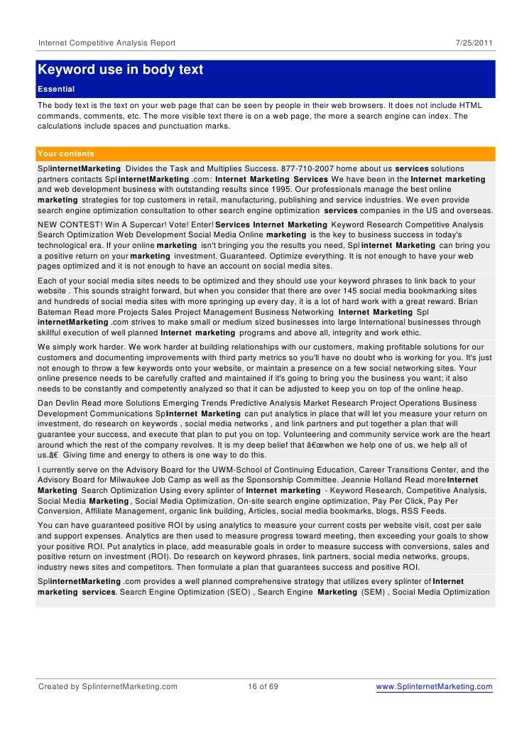Competitive analysis-internet-marketing-services-7-25-2011 slideshare - 웹