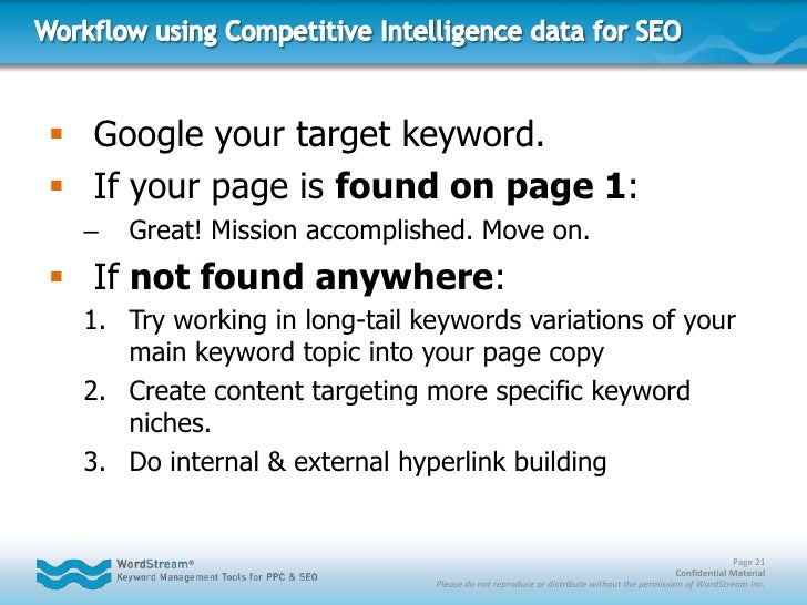 Challenging from both a competitive PPC & SEO standpoint</li></li></ul><li>Targeting More-specific Keyword Niches<br /><ul...