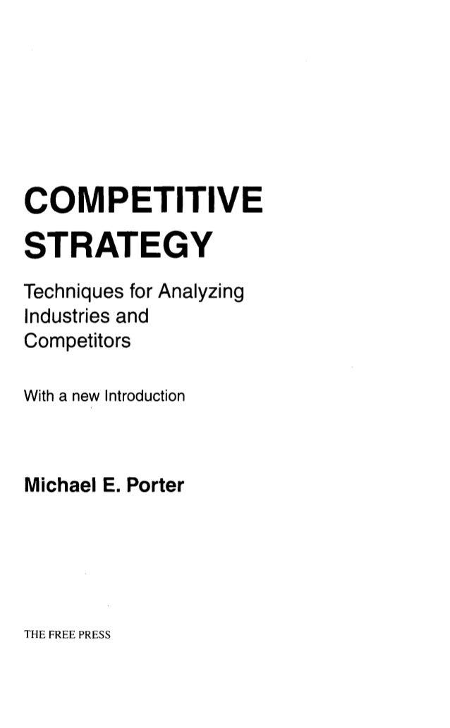 competitive strategy michael porter pdf