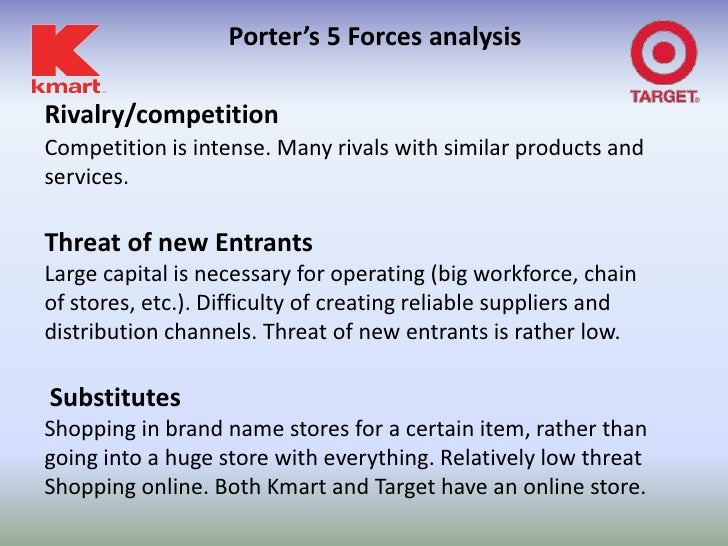 industry analysis report on kmart How kmart beat the odds on everyday low prices russo turned to some innovative market research and analysis methodology to between industry and.