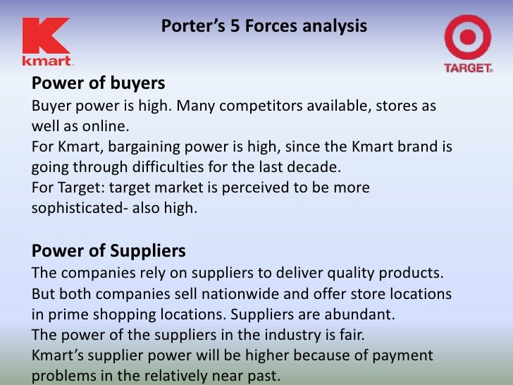 porter s five forces analysis for target corporation Porter's model the main  themselves are good location for relative target  market and quality of service introduction  forces of industry will influence  prices, costs and investment (porter, 1980)  company would be labor and  experienced trained personnel, which is in great demand in the hotel industry all  over the.