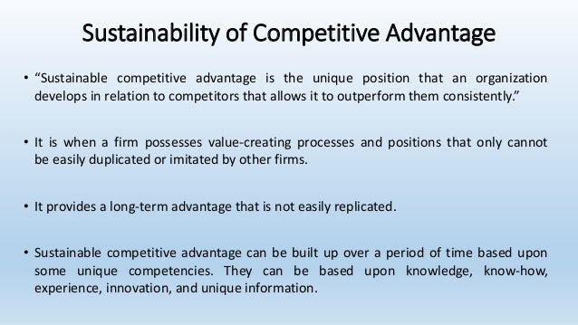 What Are The Four Building Blocks Of Competitive Advantage