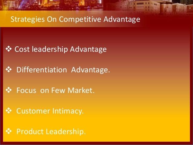Niche cost leader competencies and advantage