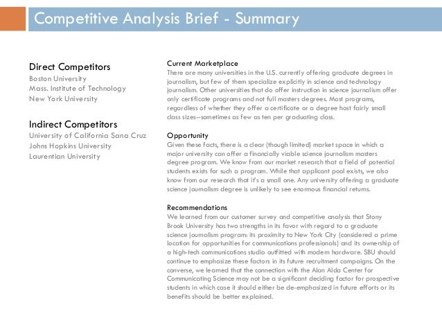 Journalism Grad School Websites: A Competitive Analysis Brief