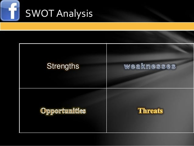 myspace swot analysis Strengths charismatic and young candidate understood the potential to reach younger voters understood the need to use a different strategy.