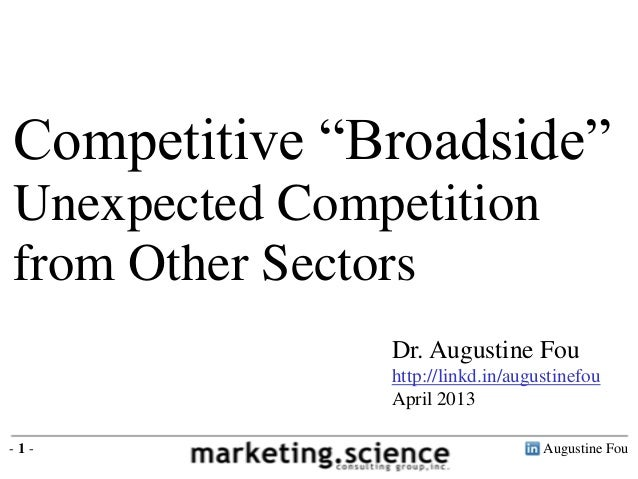 "Augustine Fou- 1 - Dr. Augustine Fou http://linkd.in/augustinefou April 2013 Competitive ""Broadside"" Unexpected Competitio..."