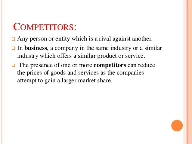 competitive business environment