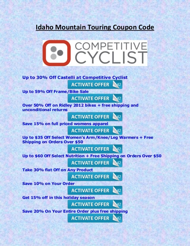 Competitive cyclist coupon code