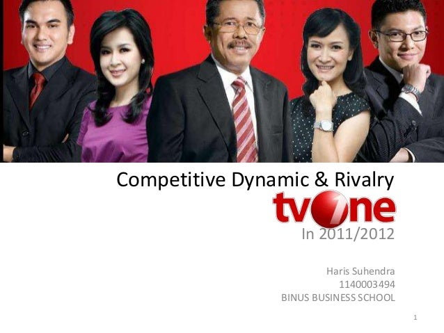 Competitive Dynamic & Rivalry 1 In 2011/2012 Haris Suhendra 1140003494 BINUS BUSINESS SCHOOL