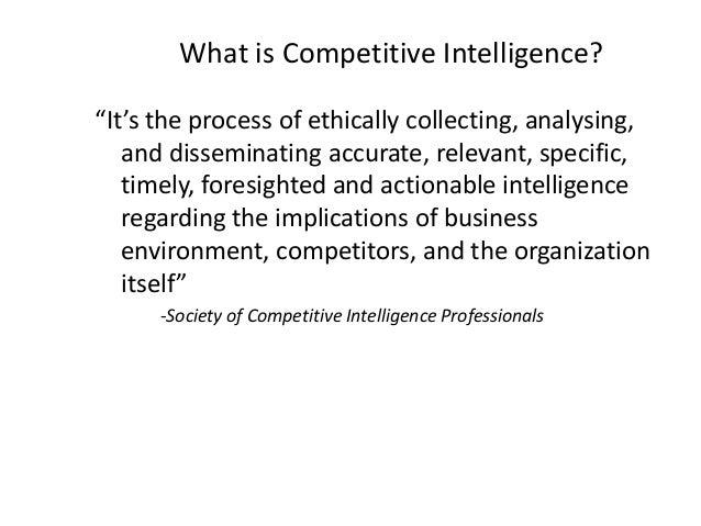 Competitive Intelligence Slide 3
