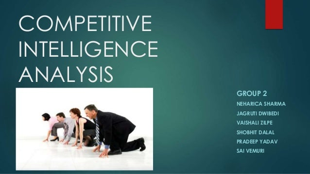 introduction to competitive intelligence The approach of frugal competitive intelligence, ci with limited means, is a response to this unpleasant situation the clear message is therefore that it is possible for any sme, even.