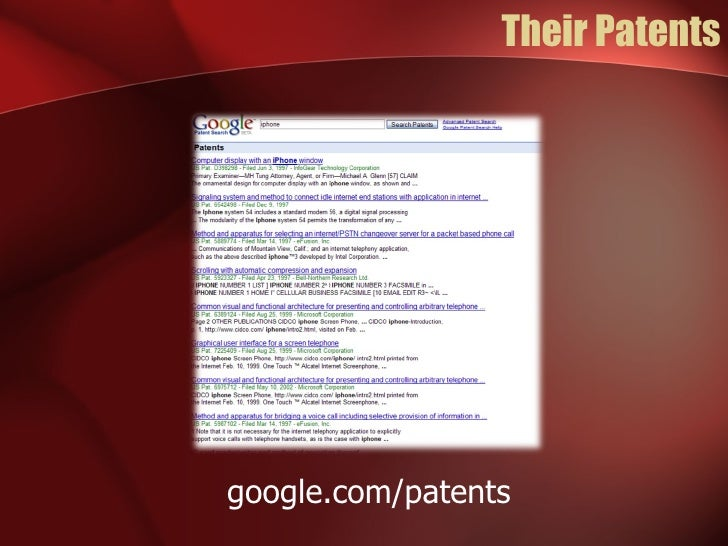Their Patents google.com/patents