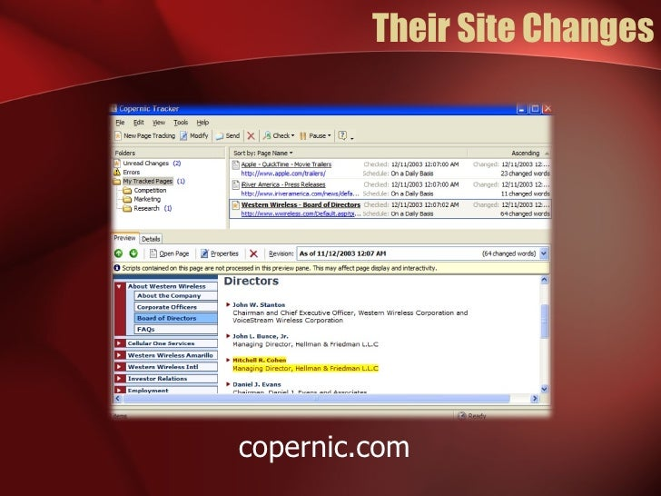 Their Site Changes copernic.com